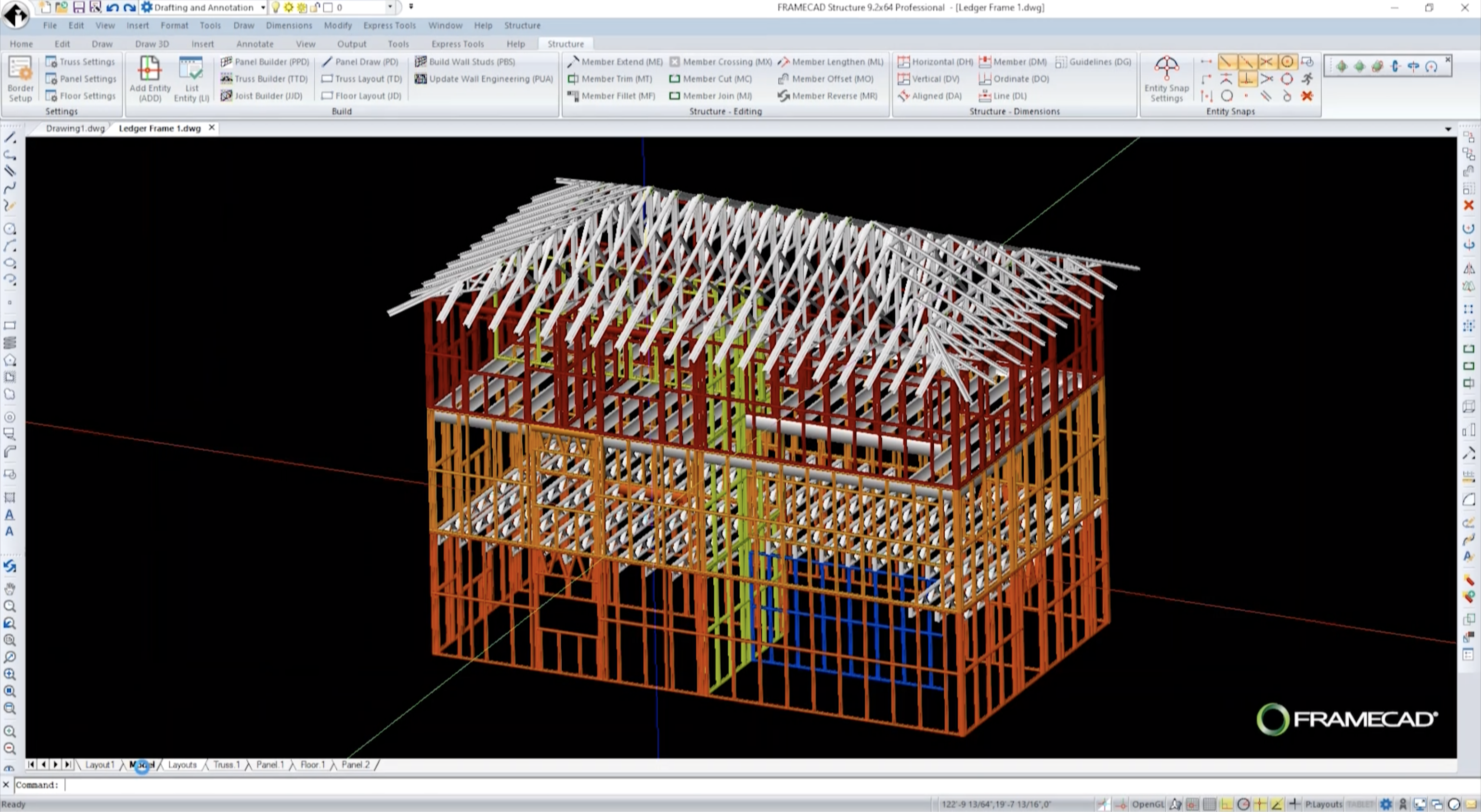 Framecad Structure 9 2 Improved Speed Performance And Design Flexibility With The Latest Free Update Of Our Cad Based Structural Engineering Software
